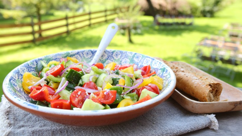 Farmer's salad: Vegetarian recipe for your barbecue